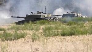 Britische Panzer Schießübungen Truppenübungsplatz Lüneburger Heide