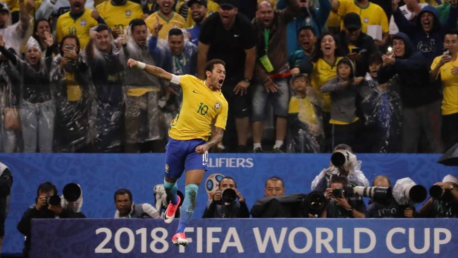 Neymar jubelt: Brasilien hat das Ticket für die Fußball-WM 2018 sicher