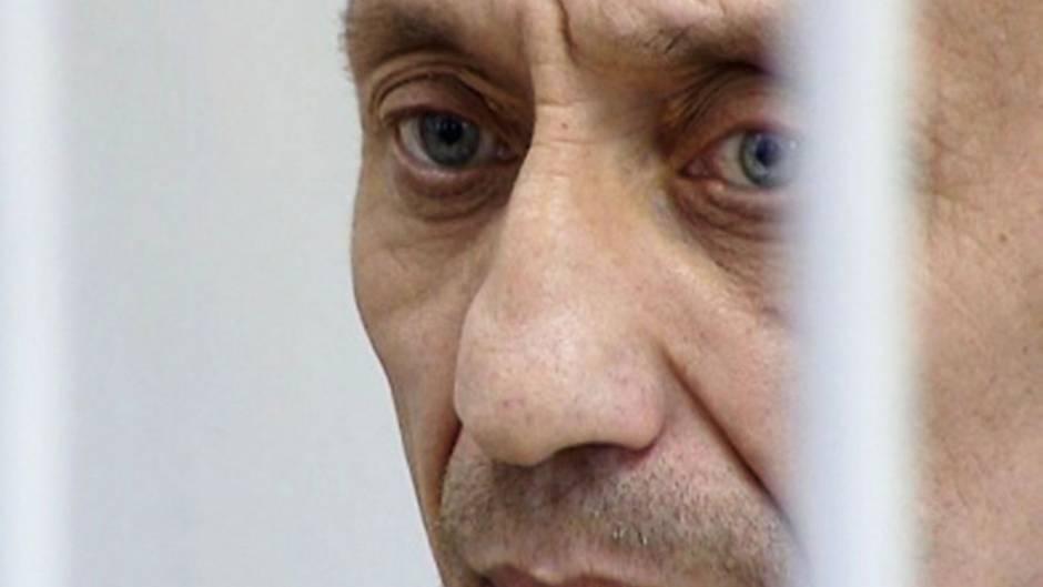 Mikhail Popkov während des ersten Prozesses-