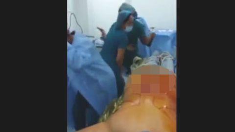 Screenshot des Videos zeigt tanzende Krankenschwestern
