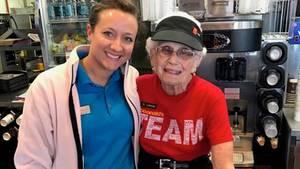 McDonald's: Lorraine Maurer(94) ist sei 44 Jahren bei McDonald's