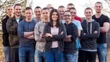 Schüler mit Glatze