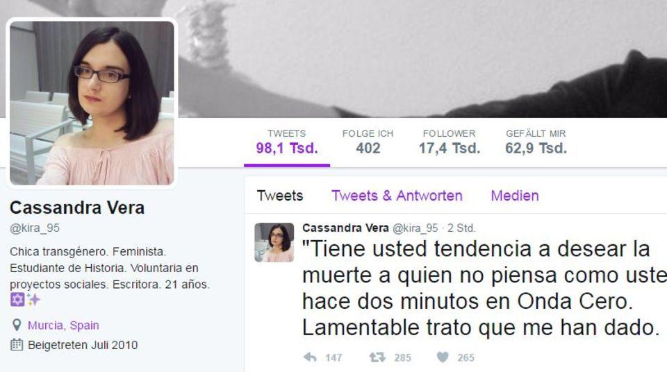 Cassandra Veras Twitter-Profil