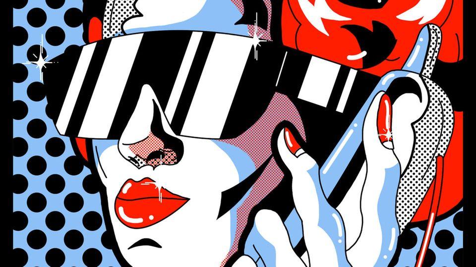Illustration von Friederike Hantel zum Thema: Affäre