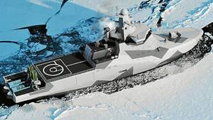 Die Animation zeigt das Schiff in seinem Lebensraum.