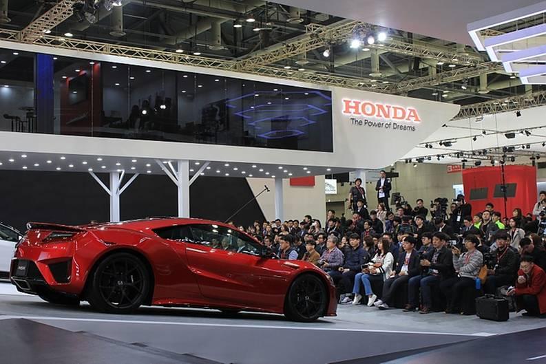 Pressekonferenz bei Honda.
