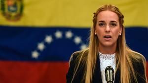 Lilian Tintori ist die Frau des venezolanischen Oppositionsführers Leopoldo Lopez
