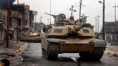 M1A2 des 3. gepanzerten US-Kavallerieregiments in Tal Afar/Irak.