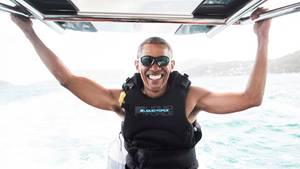 Meer, Wind, Sonne: Barack Obama genießt gerade einfach mal das Leben.