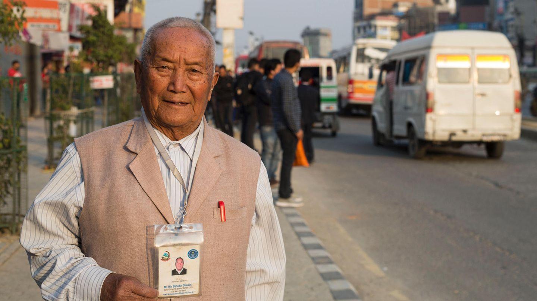 Min Bahadur Sherchan aus Nepal will den Mount Everest besteigen