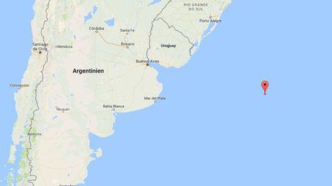 Im Südatlantik - vor der Küste Uruguays - sendete ein Frachter einen Notruf - seitdem ist er verschollen.