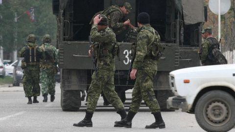 Sicherheitskräfte in Grosny