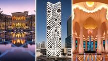 Collage: drei Hotels