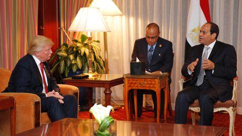 Al-Sisi und Donald Trump