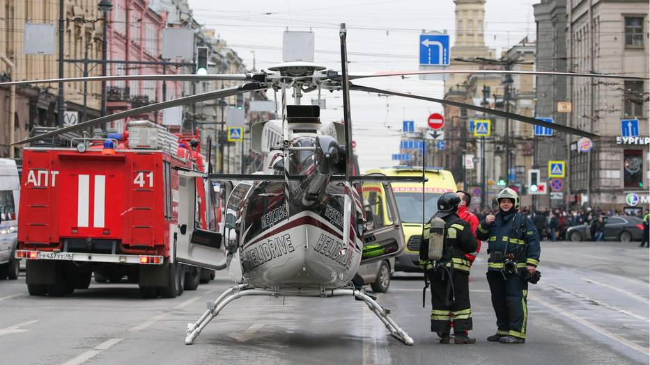 Explosion in U-Bahn-Staion in St.Petersburg