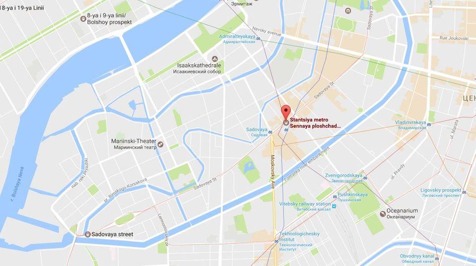 """Die Metrostation """"Sennaya ploshchad"""" in Sankt Petersburg"""