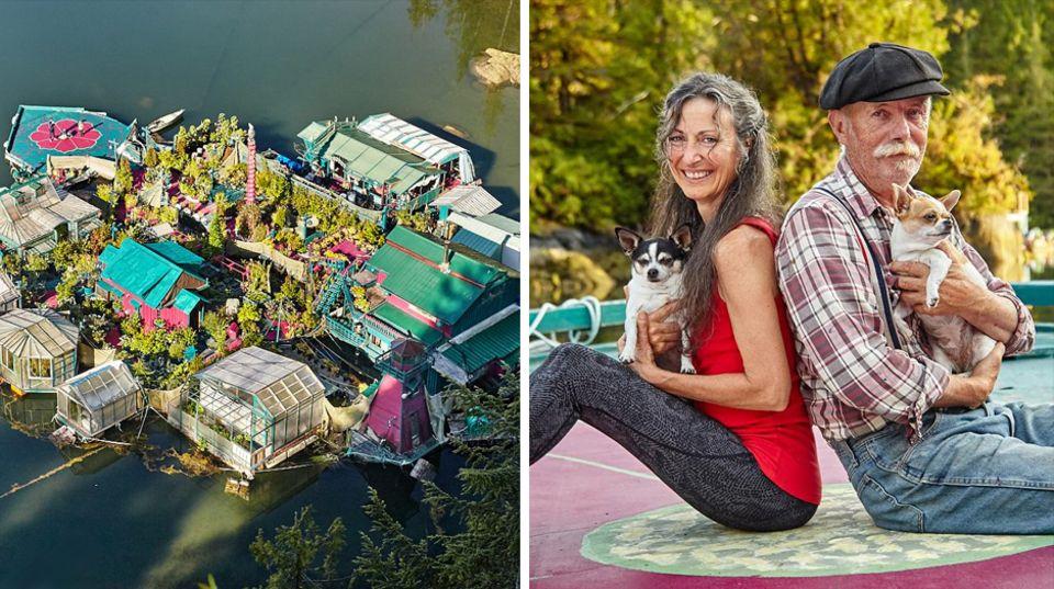 Hausboot de luxe: Paar lebt 25 Jahre in einem schwimmenden Dorf