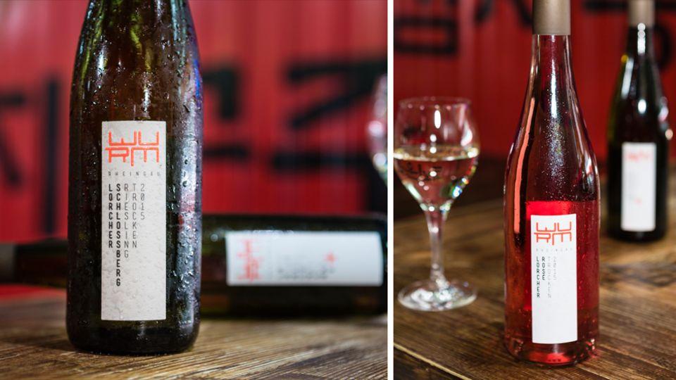 So sehen die Weine vom Ex-Manager Robert Wurm aus: Riesling (links) und Rosé aus Spätburgunder und Cabernet Sauvignon