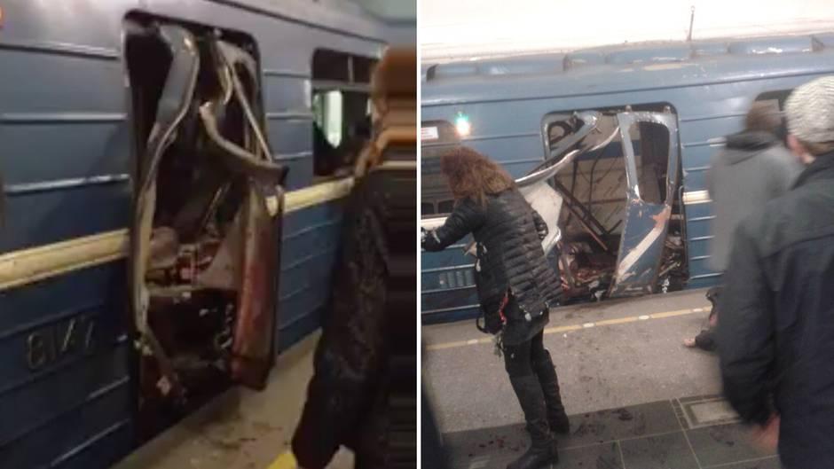 St. Petersburg: Augenzeugenvideos zeigen Chaos nach Explosion in U-Bahn
