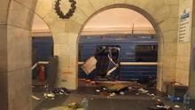 Durch eine Explosion eines Sprengsatzes in der Sankt Petersburger Metro wurden 14 Menschen getötet