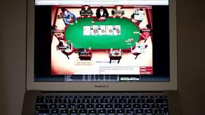 Die Oberfläche einer Online-Pokerseite. Glücksspiel im Netz ist in Deutschland weitgehend illegal.
