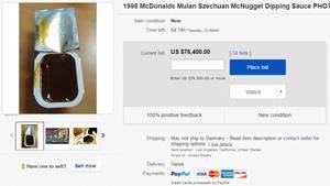 Diese McDonald's Sauce kostet über 75.000 Dollar