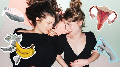 Reden gern über die Menstruation - und haben darüber nun ein Buch verfasst: Luisa Stömer (24, links) und Eva Wünsch (25)