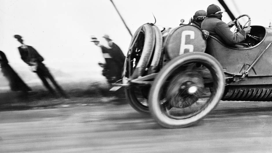 Jacques Henri Lartigue, Une Delage au Grand Prix de l'Automobile Club de France
