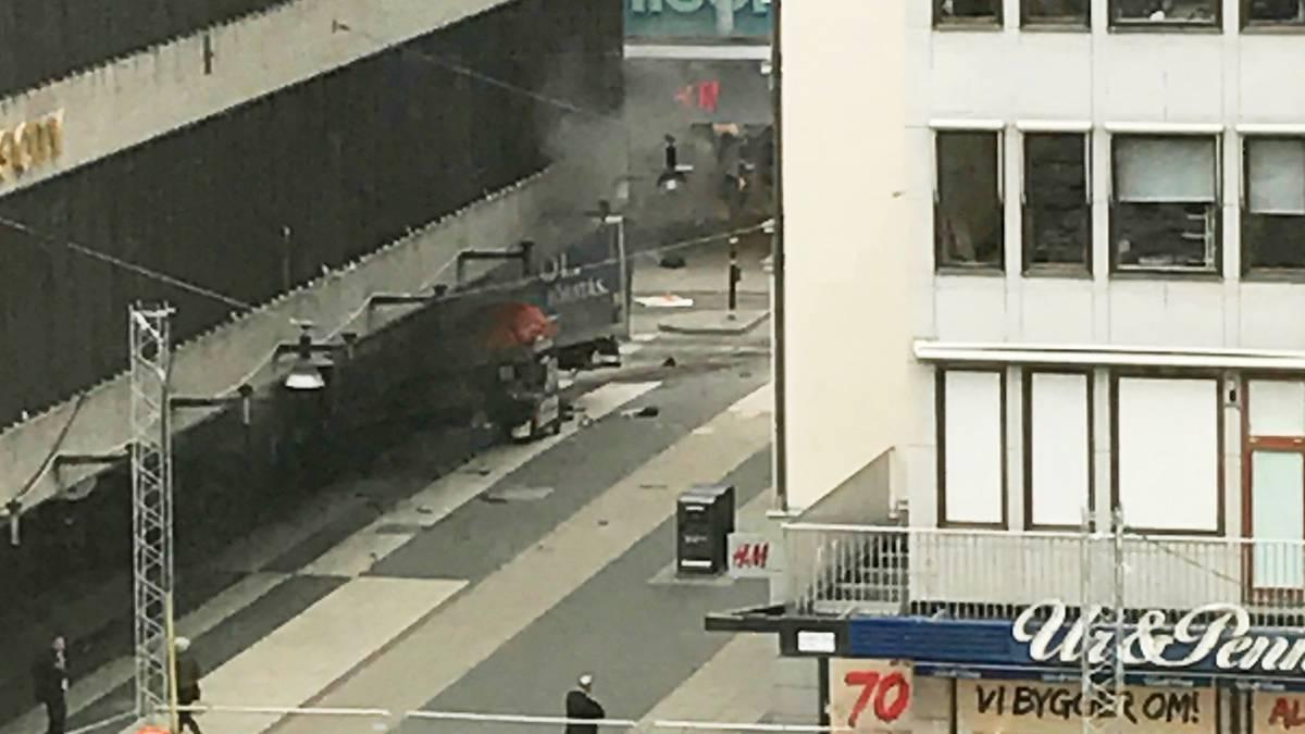 Schweden, Stockholhm LKW rast in Menschenmenge