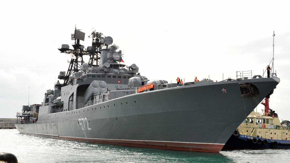 Ein russisches Kriegsschiff (Symbolbild)