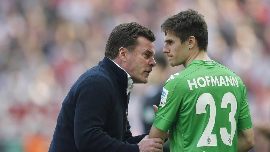 Die taktischen Anweisungen von Dieter Hecking kamen eindeutig zu spät: Hecking hatte Hofmann bereits ausgewechselt