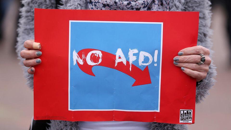 """""""No AfD""""-Plakat"""