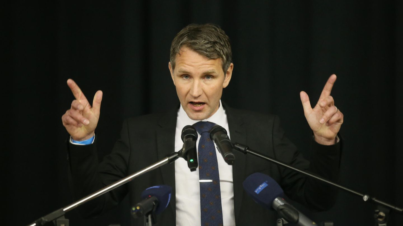 Der Landesvorsitzende der AfD in Thüringen, Björn Höcke, steht für den nationalistisch-völkischen Flügel der AfD