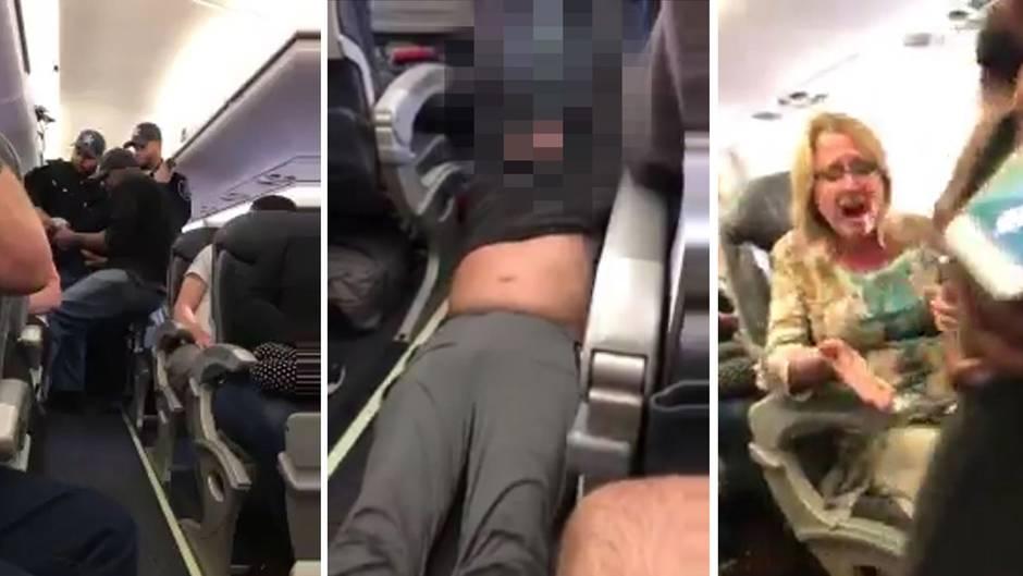 Wegen Überbuchung: So brutal zwingt United Airlines einen Fluggast auszusteigen