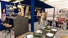 Das Aldi-Bistro soll Platz für 50 Gäste bieten