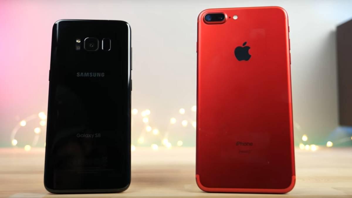 Samsung Galaxy S8 Vs IPhone 7 Plus Welches Smartphone Ist Schneller