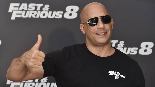 """Vin Diesel bei der Premiere von """"Fast & Furious 8"""" in Madrid, Spanien."""