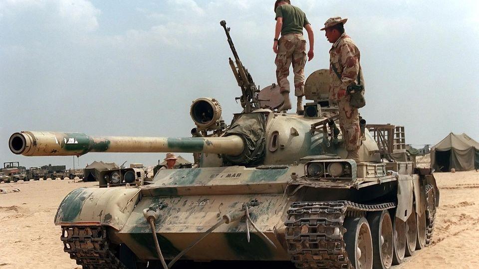 Erbeuteter Typ 69 während der Operation Desert Storm.