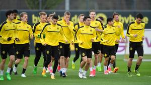 Die Spieler des BVB beim Training