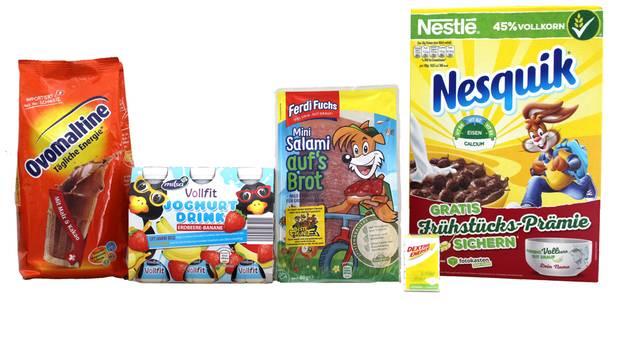 """Diese fünf Produkte stehen im Fadenkreuz von """"Foodwatch"""". Der Vorwurf: Sie halten falsche Gesundheitsversprechen."""