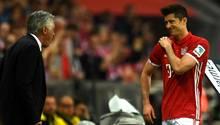 Robert Lewandowski und Carlo Ancelotti