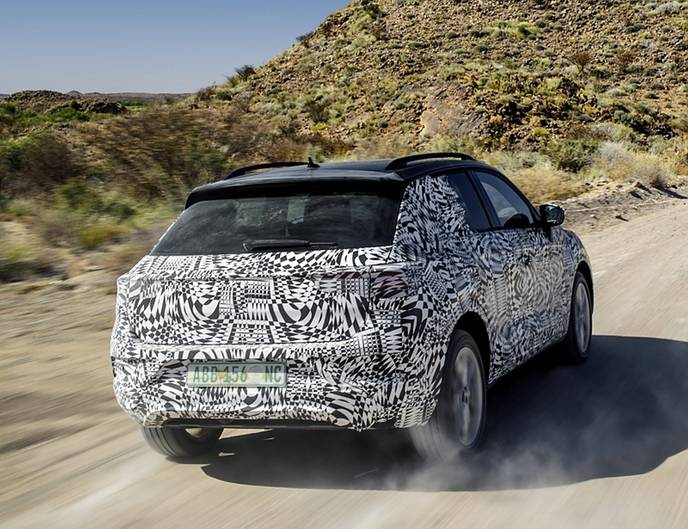 VW T-Roc Prototyp - ungewöhnliches Heck