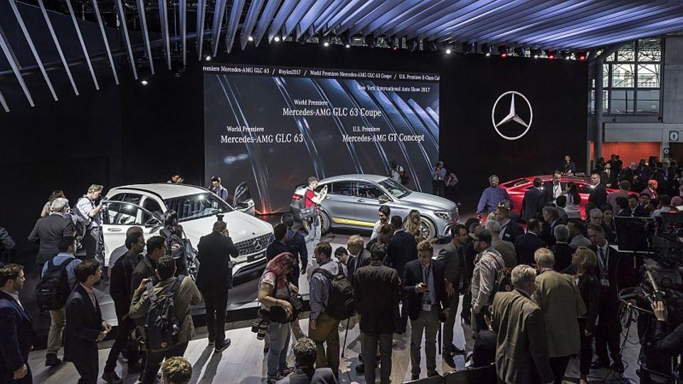 Mercedes Messestand auf der NYIAS