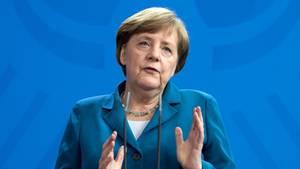 Militärische Mittel will Angela Merkel gegen Nordkorea nicht einsetzen