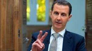Der syrische Präsident Baschar al-Assad während des Interviews in Damaskus