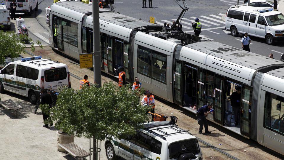 In dieser Straßenbahn ereignete sich der Angriff