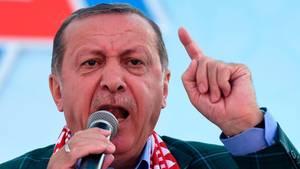 Recep Tayyip Erdogan spricht engagiert - Referendum wird Lektion für Deutschland