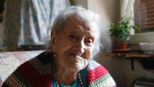 Emma Morano - hier auf einem Foto aus dem Jahr 2015 - hatte kein einfaches Leben