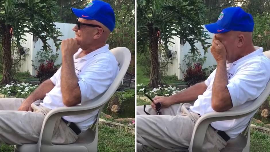 Herzzerreißende Reaktion: Dieser Mann sieht nach 66 Jahren zum ersten Mal Farben