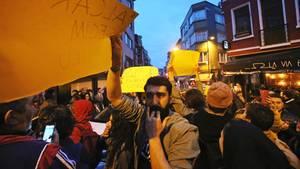Nach dem umstrittenen Referendum in der Türkei ist es in Istanbul zu Protesten gegen Staatschef Erdogan gekommen